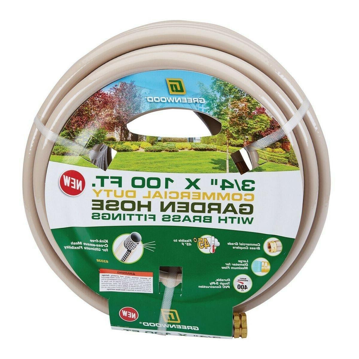Greenwood® 3/4 In. X 100 Foot Commercial Duty Garden Hose