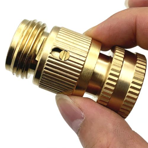 3/4 Garden Quick Connect GHT Solid Brass Connector