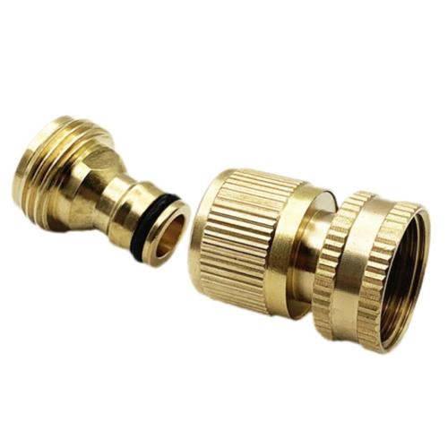 3/4 Inch Hose Quick Solid Brass Connector