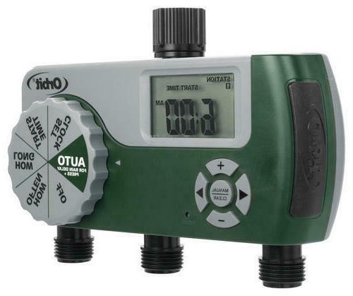 3 station digital garden hose timer programmable