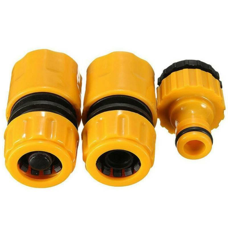3Pack GARDEN CONNECTOR SET Accessories Tap Adapter Fitting