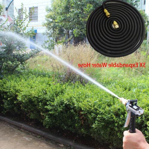 3X Durable Garden Water Expandable +Spray Nozzle 25 100FT