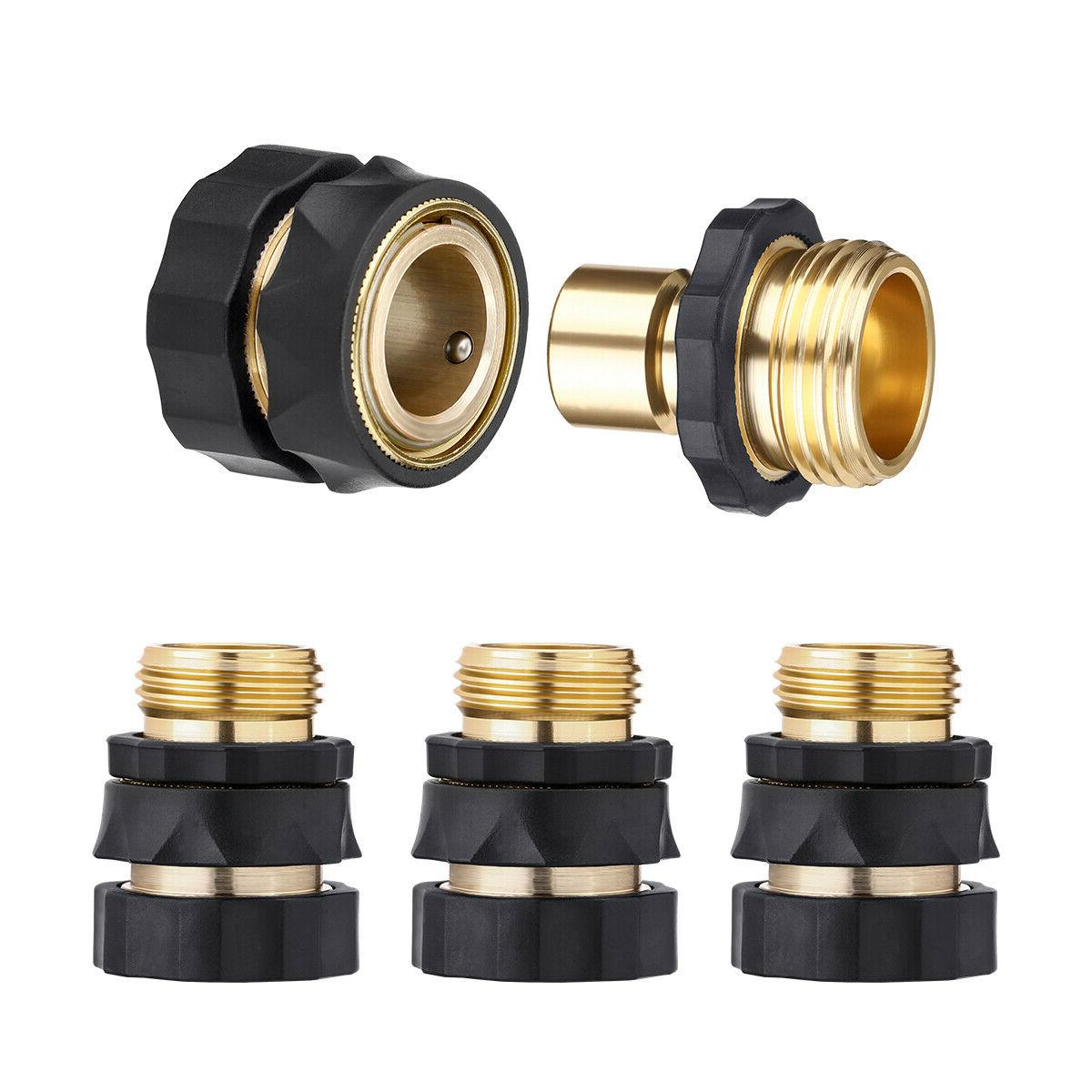 4 PAIRS Quick Connect Set Brass Hose Tap Universal