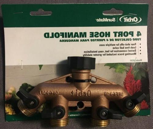 4 port brass garden hose faucet manifold