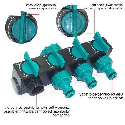 4Way Garden Hose Connector Faucet Watering Splitter
