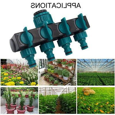 4Way Garden Lawn Water Hose Connector Pipe Faucet Watering V