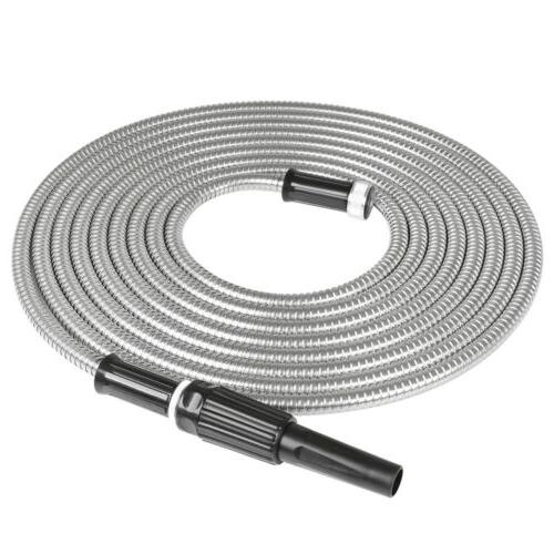 25/50/75/100FT Stainless Steel Metal Garden Hose Lightweight