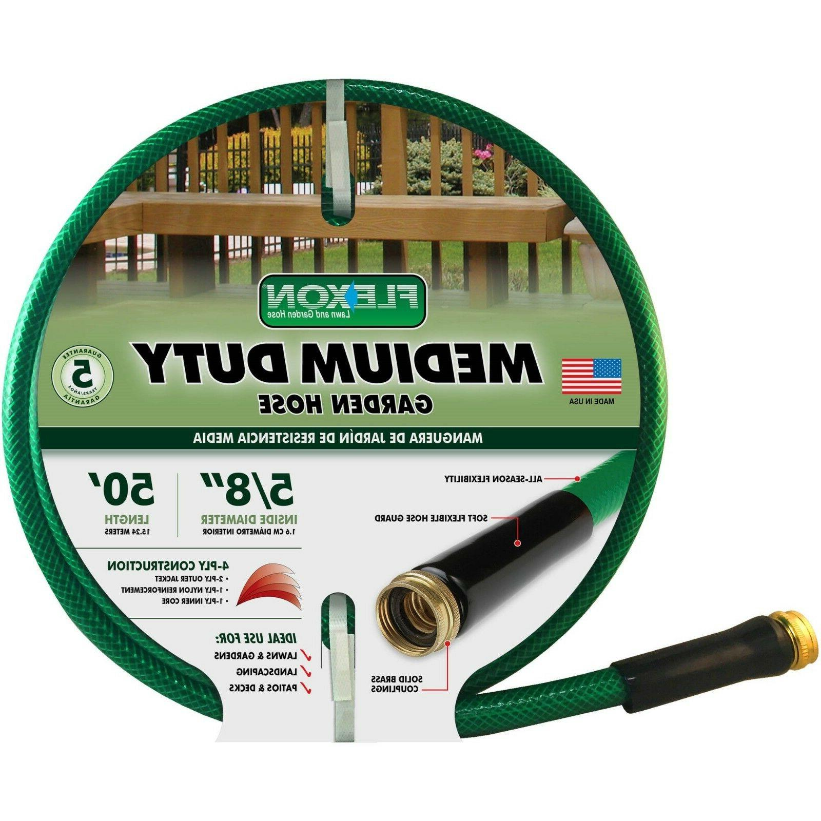 new 50 ft medium duty garden hose