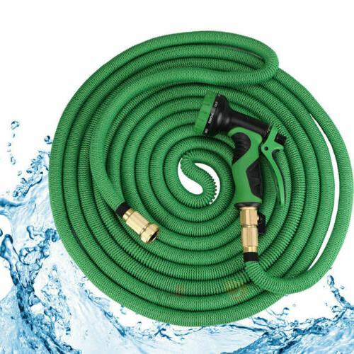 50FT Expandable Garden Water Hose Retractible Pipe Pray Nozzle