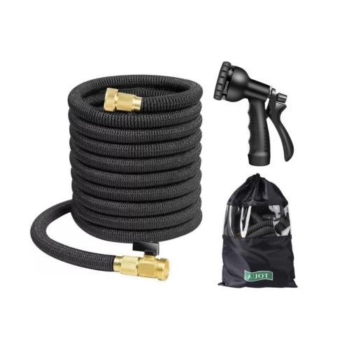 50FT Expandable Garden Water Hose, 8 Function Spray Nozzle,