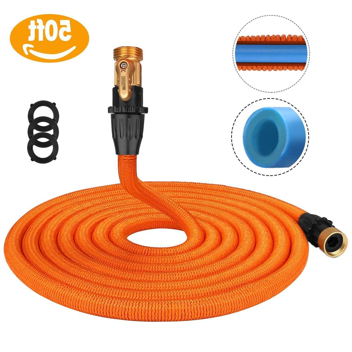 Tacklife 50ft Garden Hose, Innovative Leakproof Patent Conne