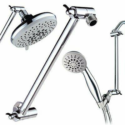 "Adjustable 11"" Bathroom Wall Mount Pipe Extension Head"