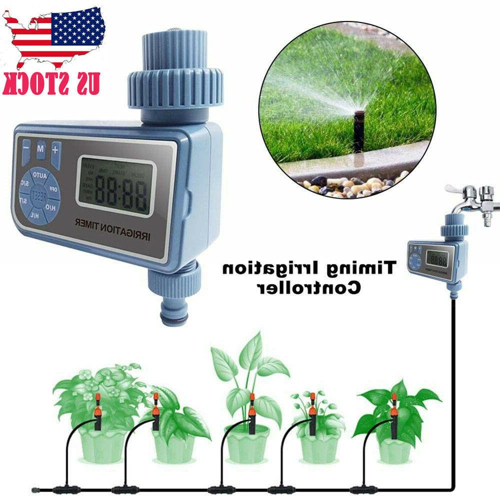 automatic electronic water timer garden hose plant