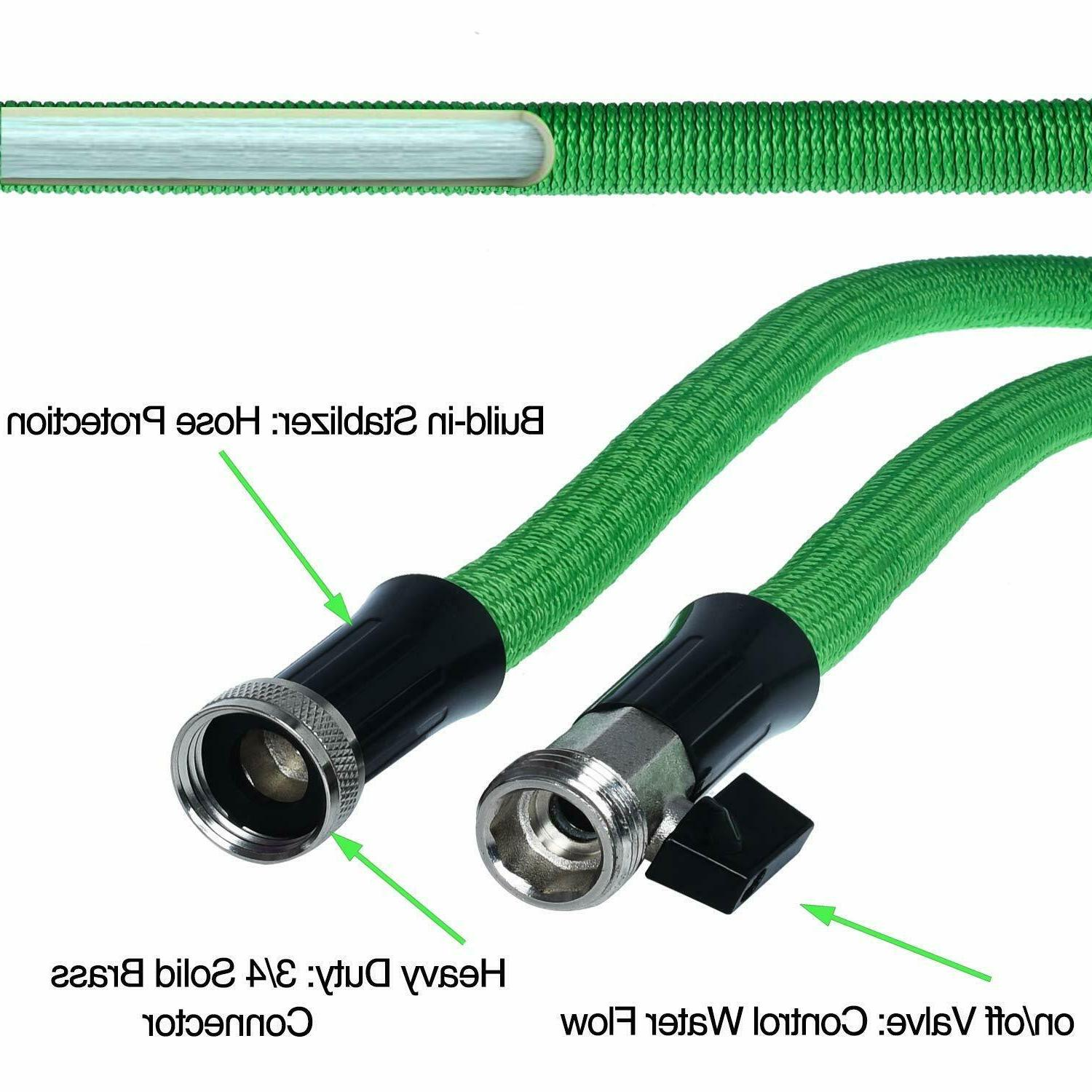 Best Duty Flexible Expandable Garden Hose 25ft 50ft 75ft Green