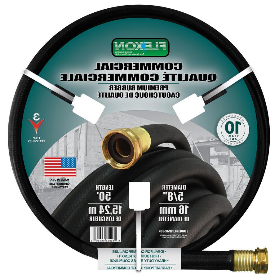 Black Rubber 5/8-in x 50-ft Contractor-Duty Garden Hose with
