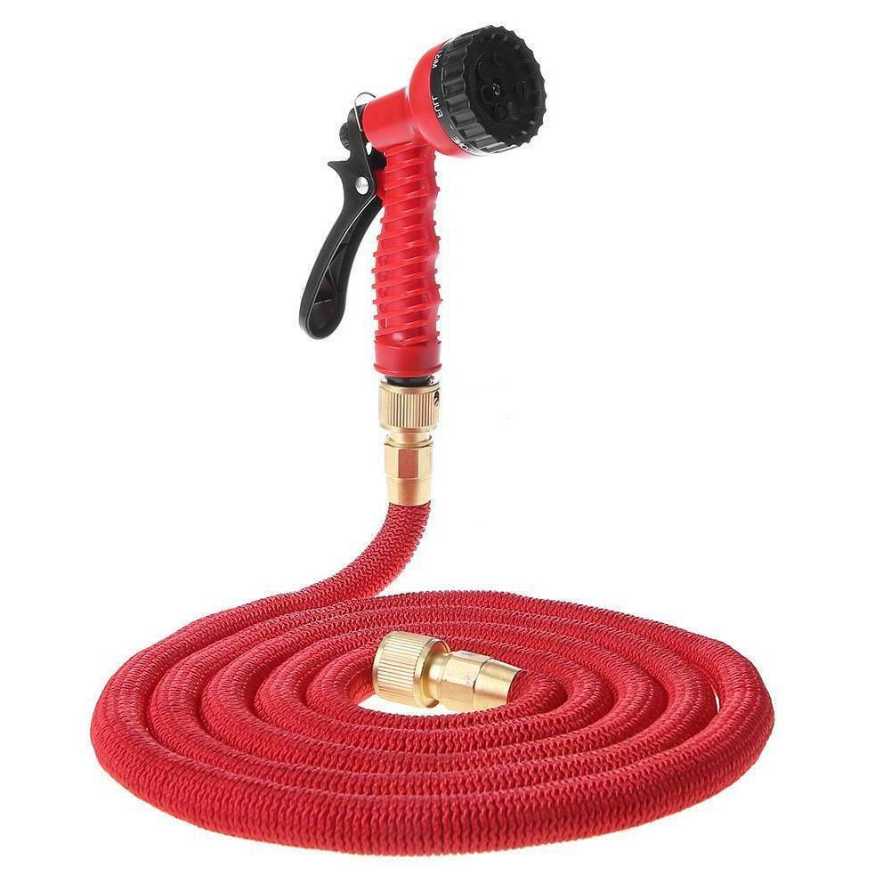 Deluxe 25-200 Expandable Flexible Garden Water Hose with Spray Nozzle