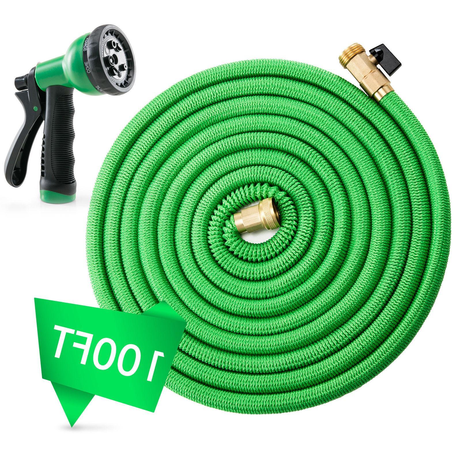 Deluxe 50 FT Expandable Flexible Garden Water Hose Spray