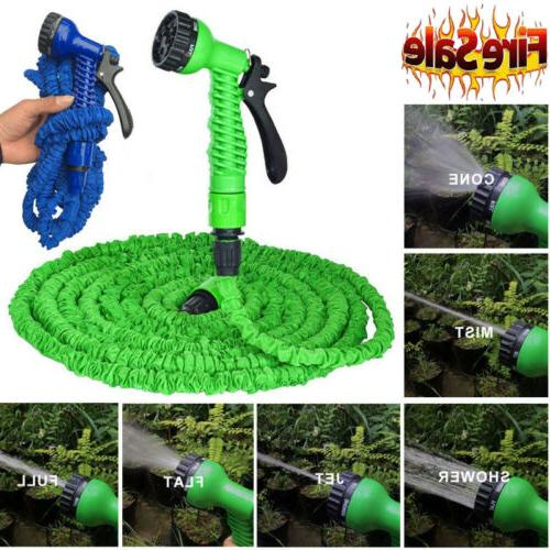 Deluxe 25 50 75 100 FT Expandable Flexible Garden Water Hose