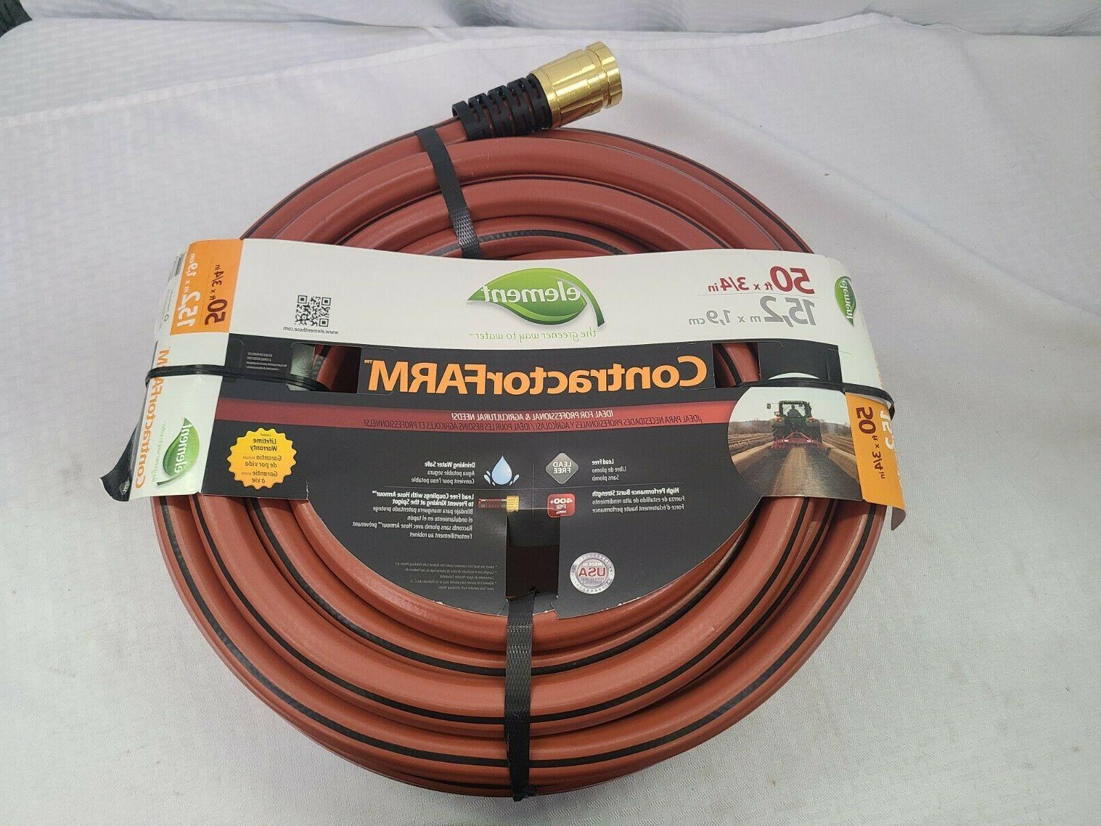 elcf34050 garden hose 50 ft 3 4