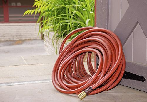 """Swan ContractorFARM Water Hose 75' 3/4"""", Red"""