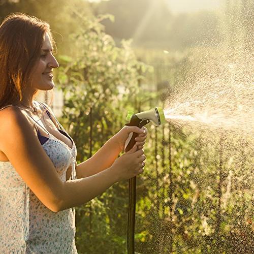 Aterod Expandable Garden Hose, Strongest Expandable Water Hose Double Core, Brass Extra Expanding
