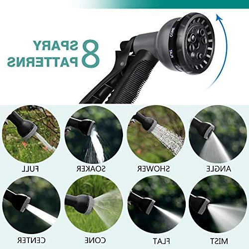 """Anteko Garden 50ft Expandable Hose, Functions with 3/4"""" Solid Brass Fittings, Extra Improved Expanding"""
