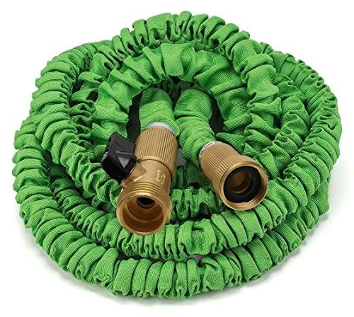 GrowGreen Expandable Garden Hose Heavy Brass Connectors,