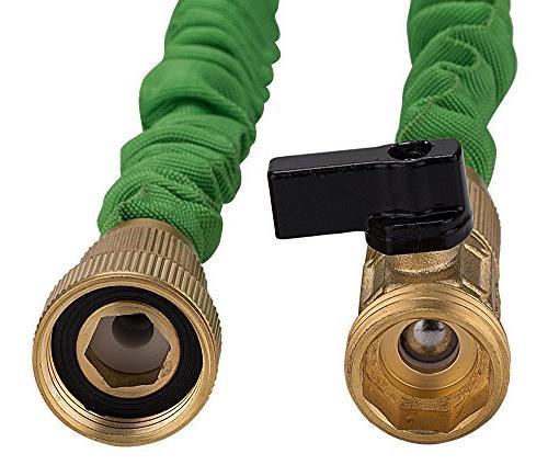GrowGreen Expandable Strongest Garden Heavy Brass Connectors, 50'