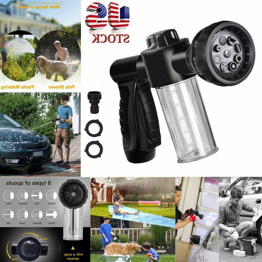 Foam Sprayer Garden Hose Nozzle Sprayer With 8 Mode For Car