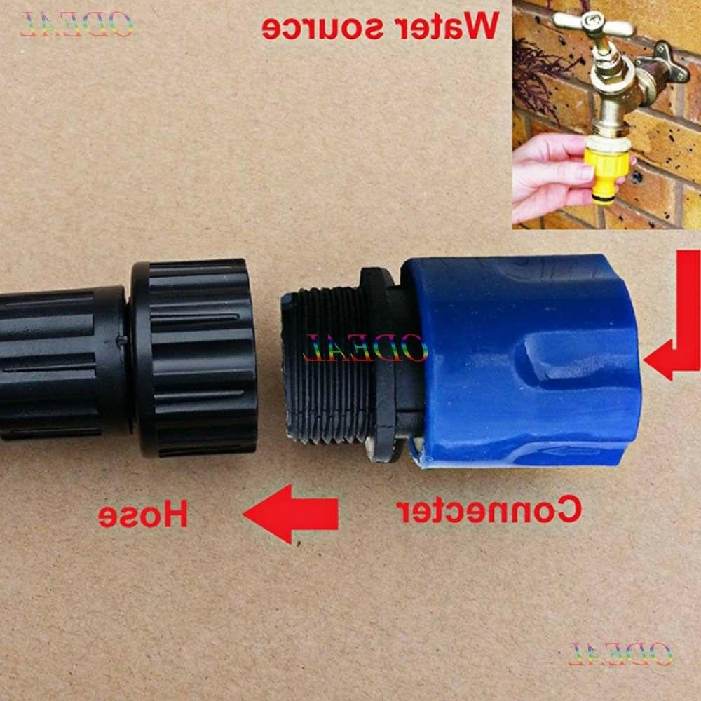Garden Expandable Stretch Hose Adaptor Connector Tap Spray W