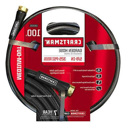 Garden Hose 5/8 Inch 100 Ft Vinyl Craftsman Medium Black