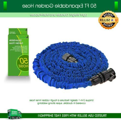 garden hose 50 feet lightweight expandable deluxe