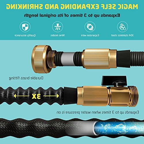 growfast Feet Durable 3/4 Nozzle Connector Flexible Hosepipe for Use