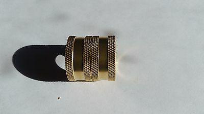 garden hose swivel brass coupler female x