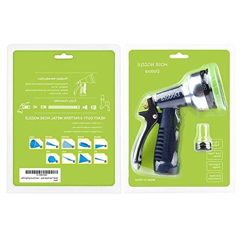 Garden Heavy Metal Spray Nozzle High Pressure Hand Cleaning, Car Showering &