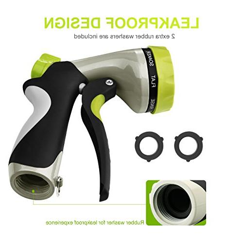 VicTsing Hose Spray Nozzle with 8 Slip Shock Resistant for Car Wash Pets