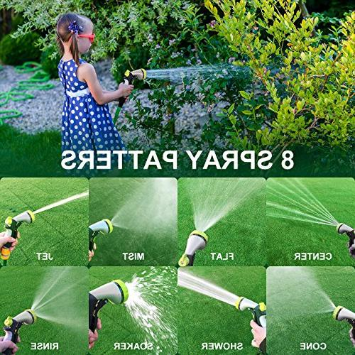 VicTsing Spray Water Nozzle Heavy 8 Adjustable Slip and Shock for Plants, Car and Pets