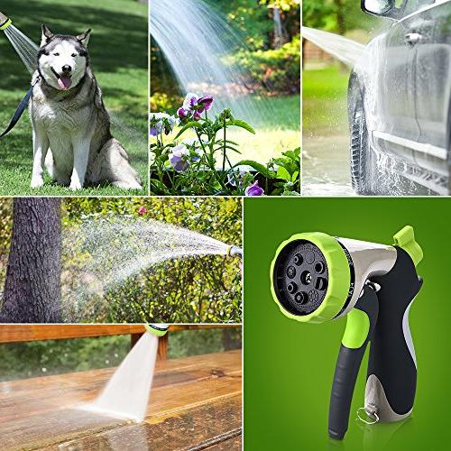 VicTsing Garden Hose Nozzle Spray Nozzle with Duty 8 Slip and Car Pets