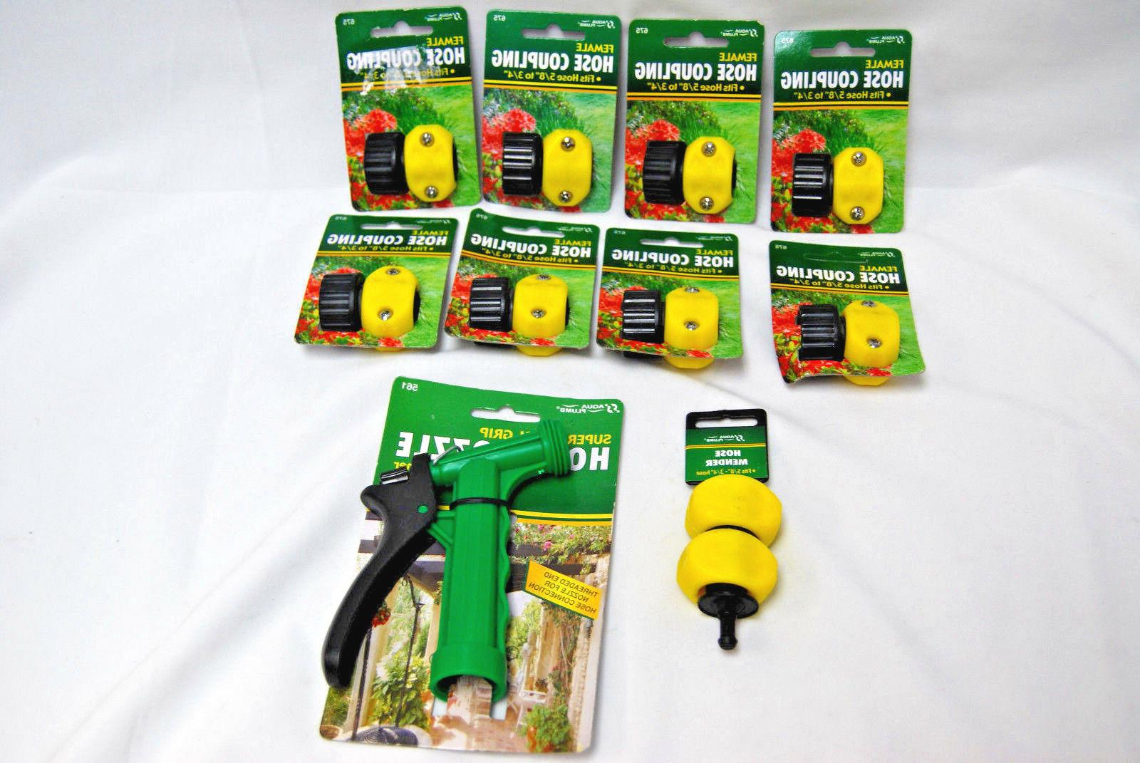 garden hose parts couplings mender and nozzle