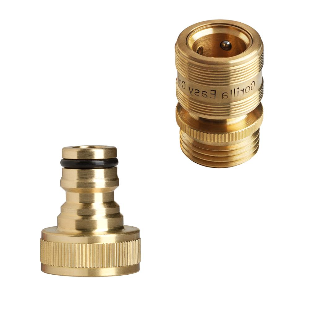Garden Connector. ¾ inch Brass Easy Fittings.