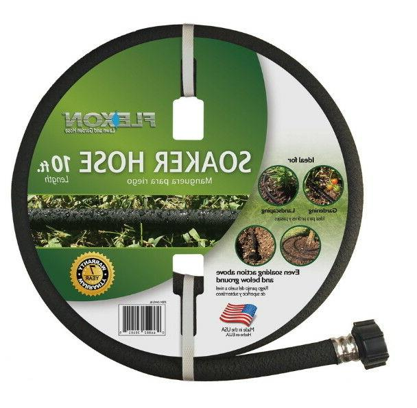 Garden Hose Soaker 10 ft Above and Below Ground Rubber 1/2-i