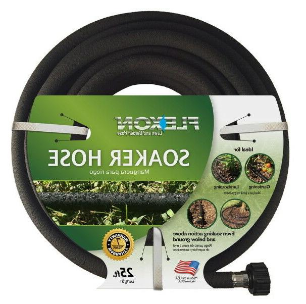 Garden Hose Soaker 25 ft Above and Below Ground Rubber 1/2-i