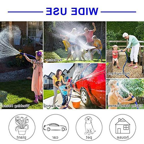 "Garden 25ft Lightweight Hose 3/4"" Fittings, Double Extra Strength Expanding Hose Lawn Car Watering Plants"
