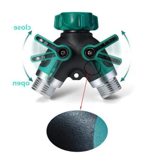 Garden Screw Splitter 2 Connector Y Adaptor Tool US