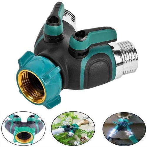 garden screw hose pipe splitter 2 way