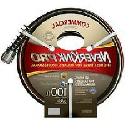 Water Hose Apex 5//8 in Dia 50 ft Red Rubber Commercial Industrial Duty Gardening