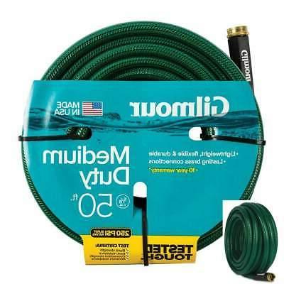 Garden Watering Hose 50 ft Gilmour Medium-Duty Industrial Ba