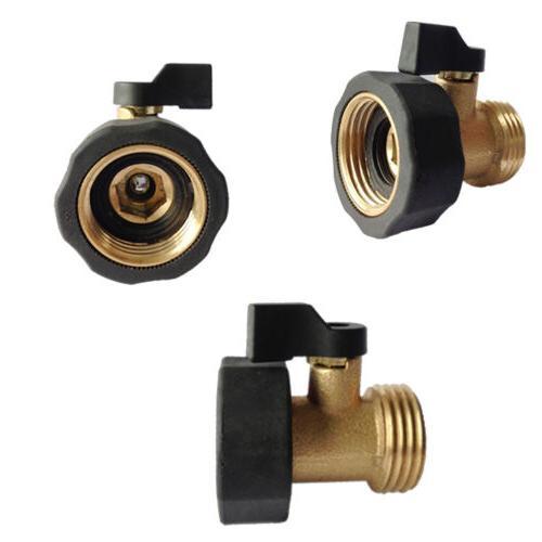3/4 Thread Brass Garden Hose Connector with Shut-Off Valve F