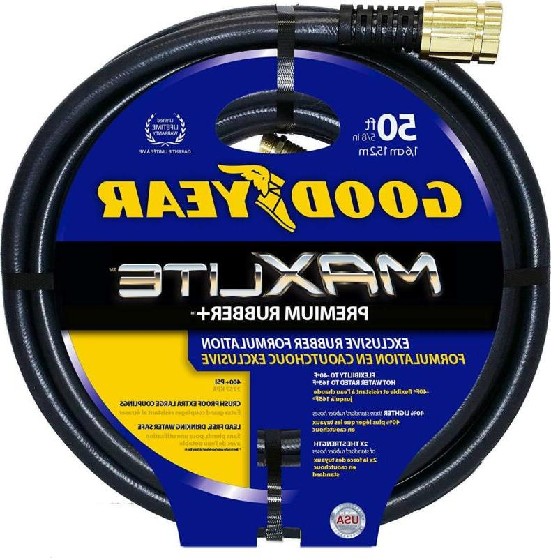Swan Products Maxlite Crush Proof Garden Hose 50 Black
