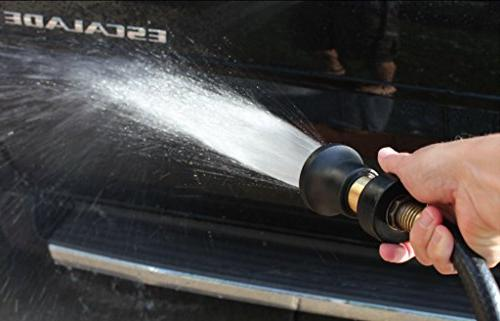 Heavy Duty Style Fits All Garden Hoses Best Pressure Your Car Your Garden Leak Proof - Lifetime No-Hassle Guarantee